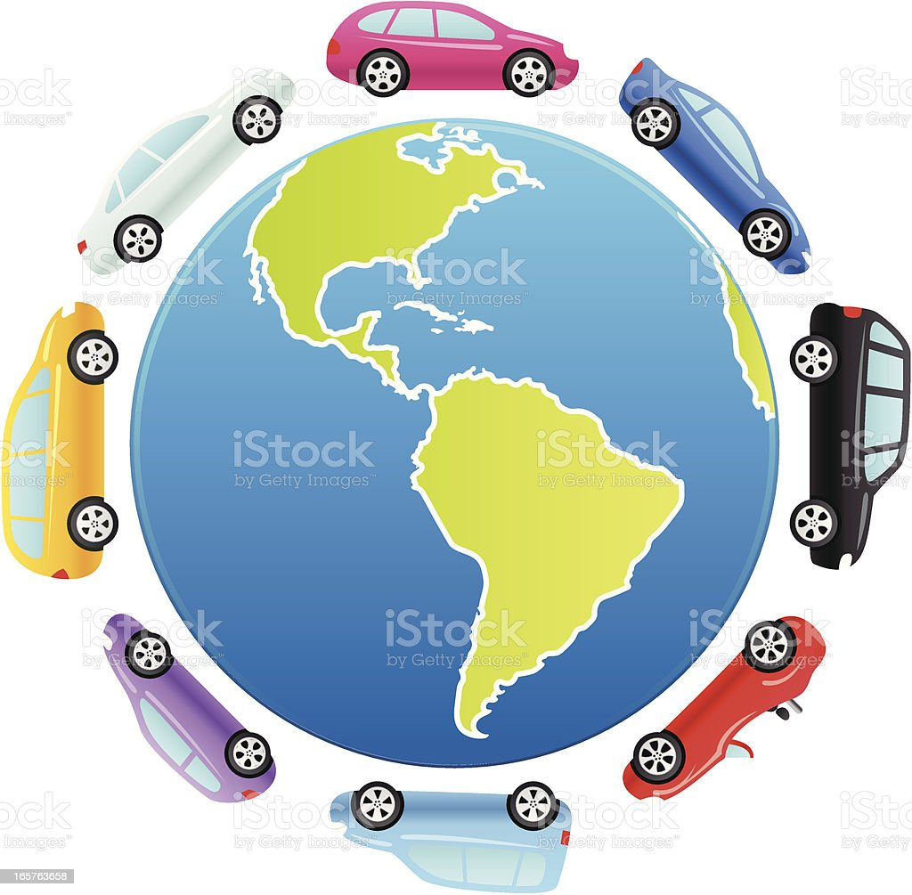 Global Cars royalty-free stock vector art