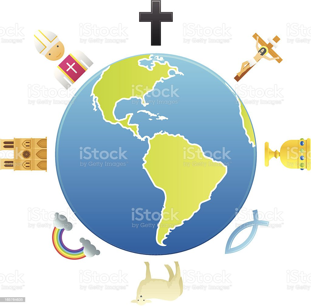 Global Christianity royalty-free stock vector art