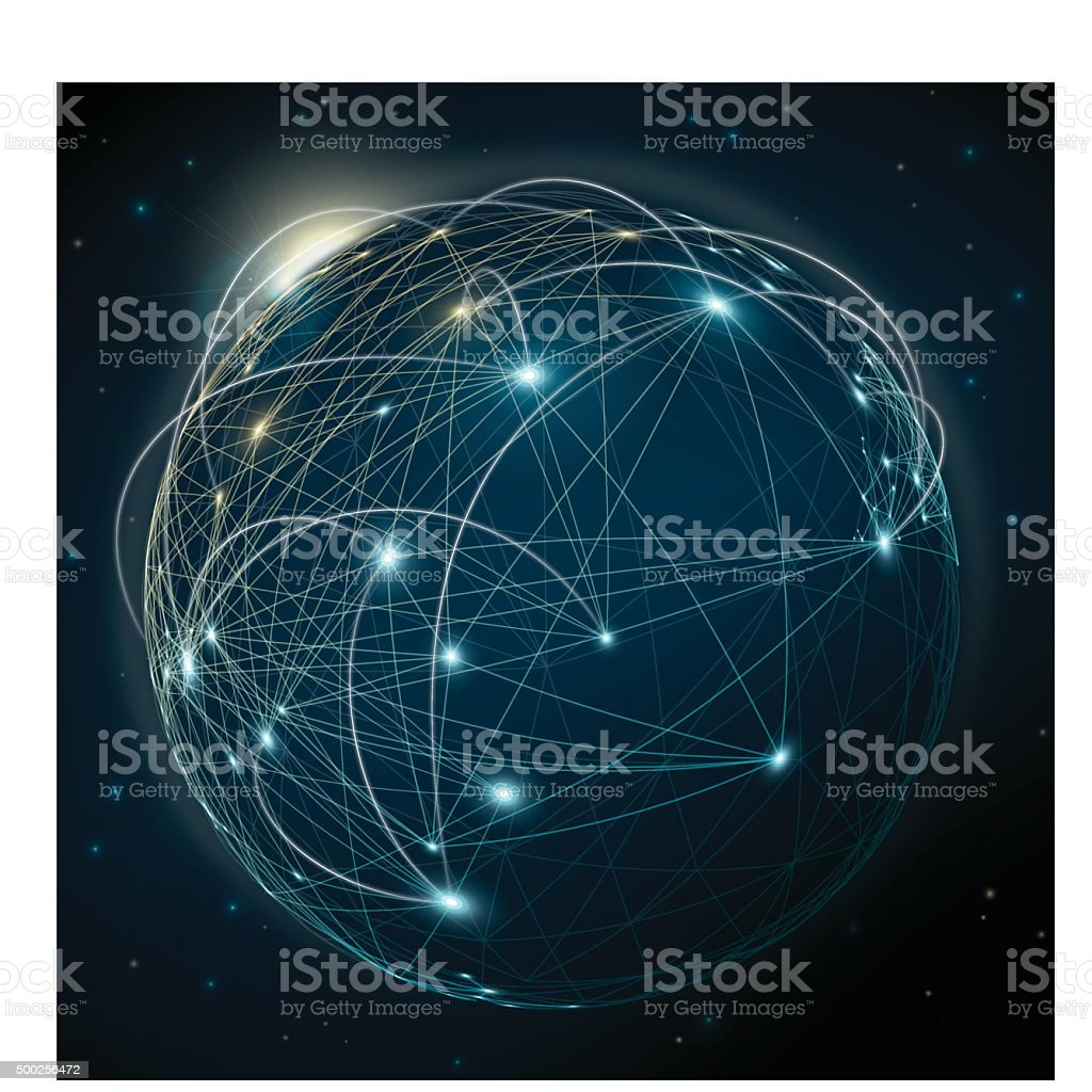 Global Communication Abstract Background vector art illustration