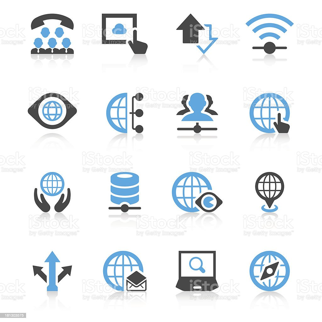 Global Communication Concept Icon Set | Concise Series vector art illustration