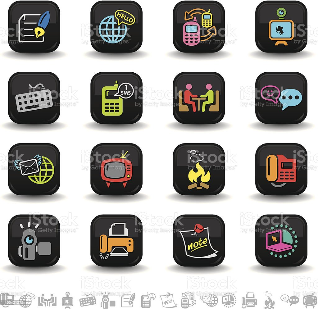 Global communication icons | bbton series royalty-free stock vector art