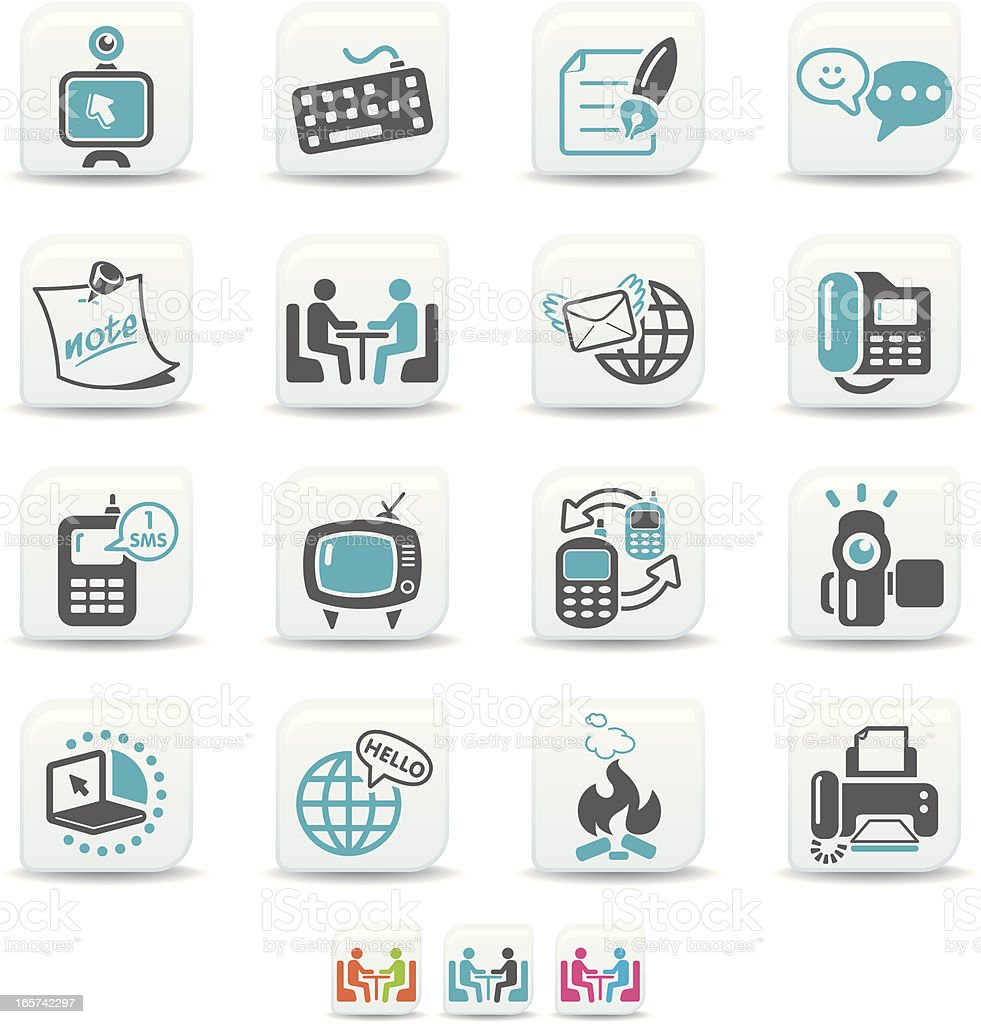 global communication icons | simicoso collection royalty-free stock vector art