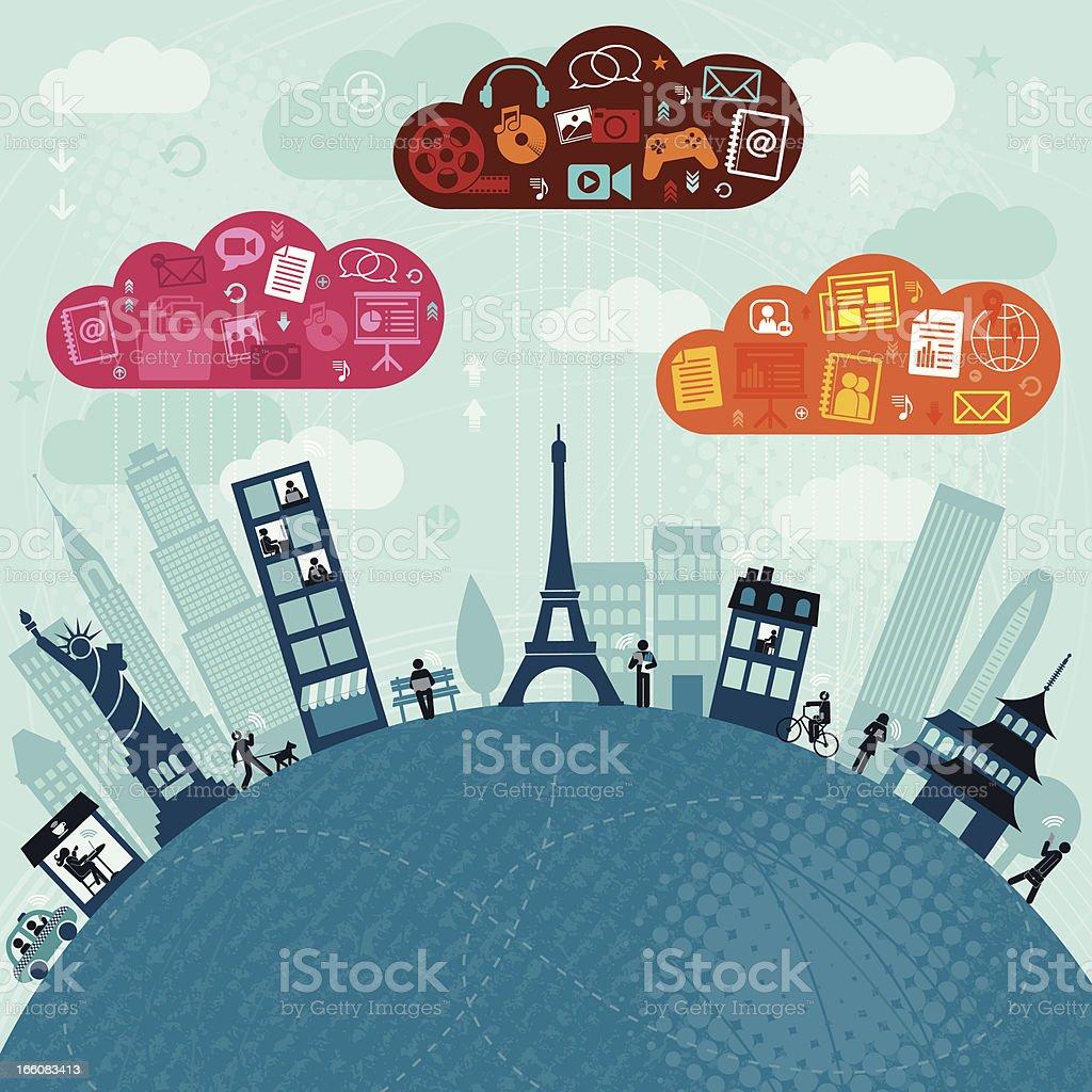 Global Communication royalty-free stock vector art