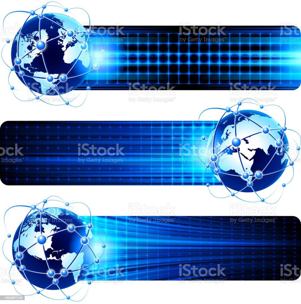 Global communications banner royalty-free stock vector art