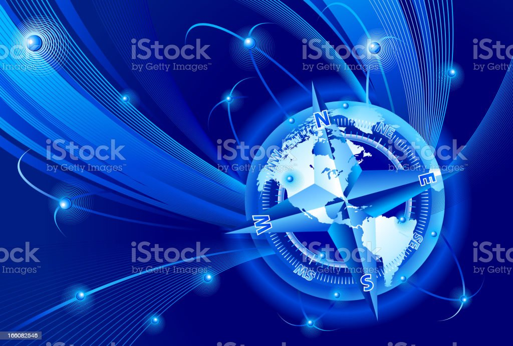 Global communications travel navigation royalty-free stock vector art