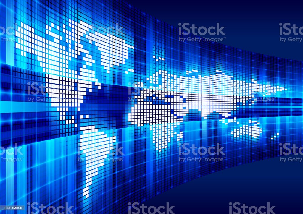 Global Communications royalty-free stock vector art