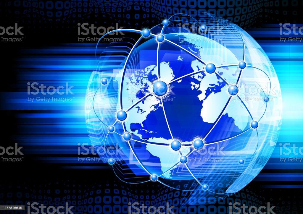 Global communications royalty-free stock vector art