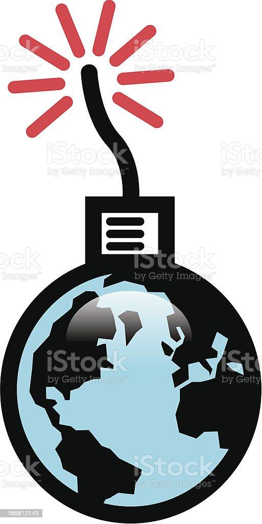 Global disaster vector art illustration