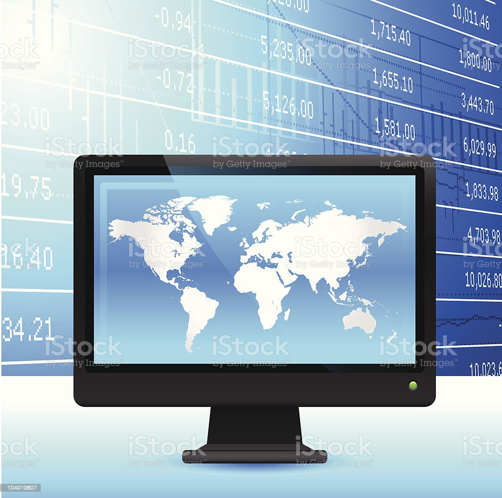 Global economy background. royalty-free stock vector art