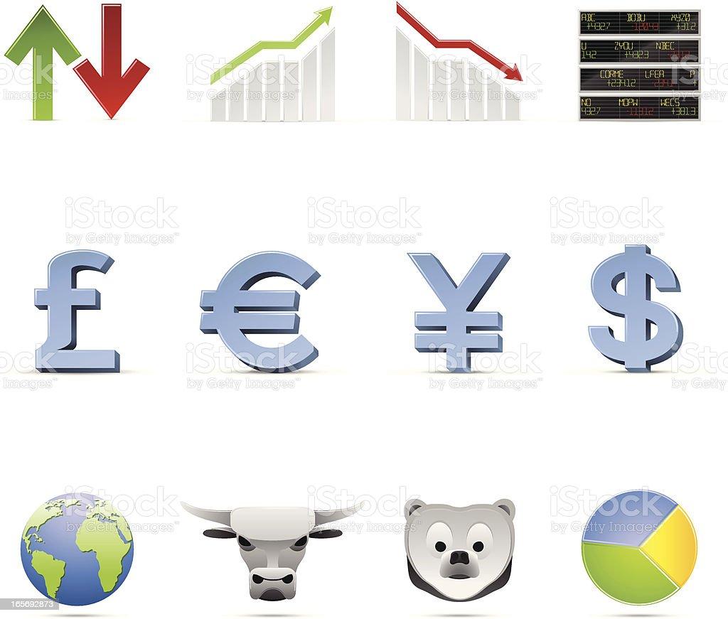 Global Economy Icons vector art illustration