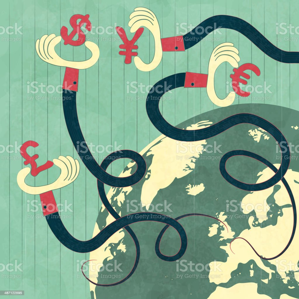 Global economy vector art illustration
