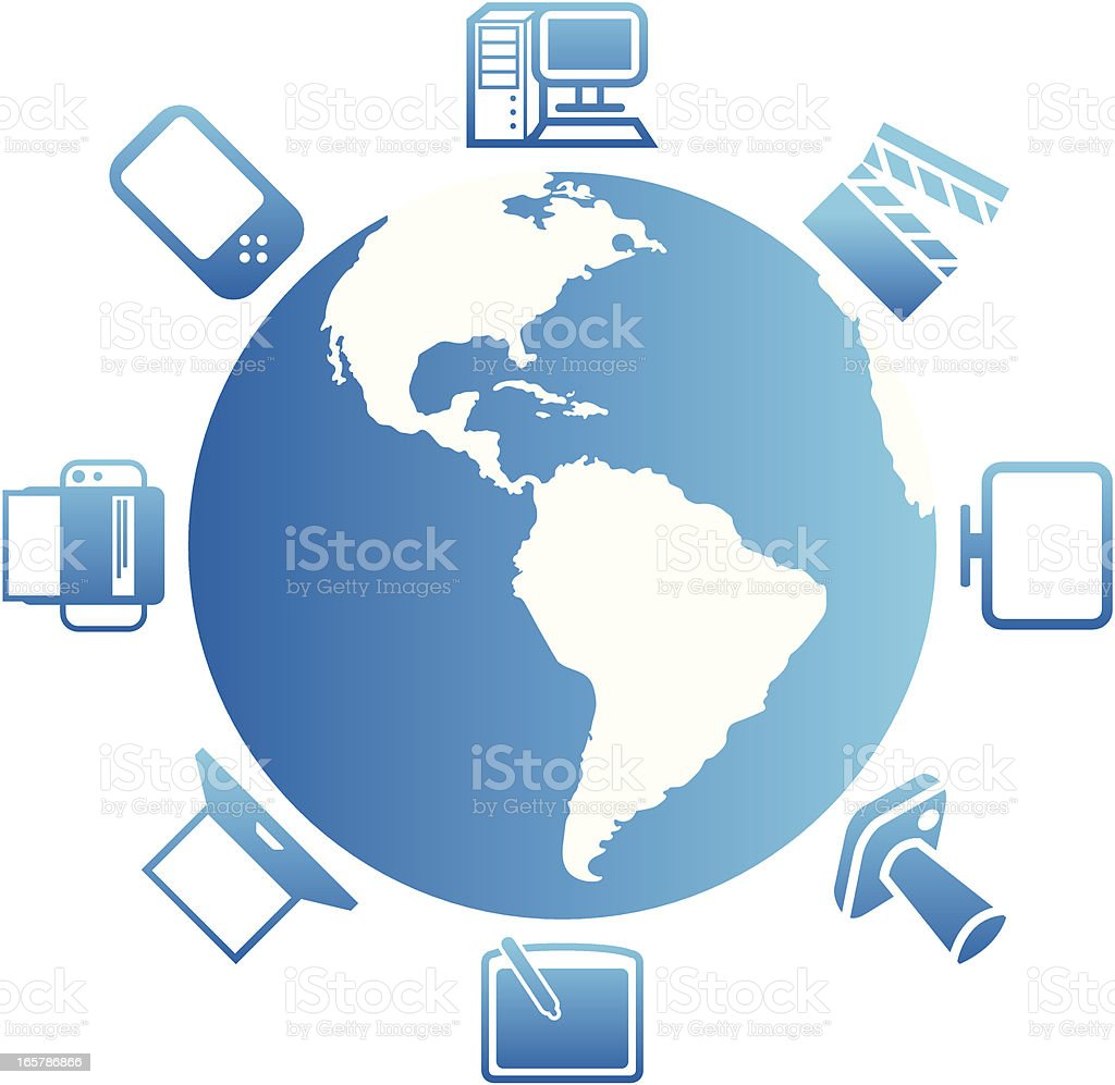 Global Electronics & Media royalty-free stock vector art