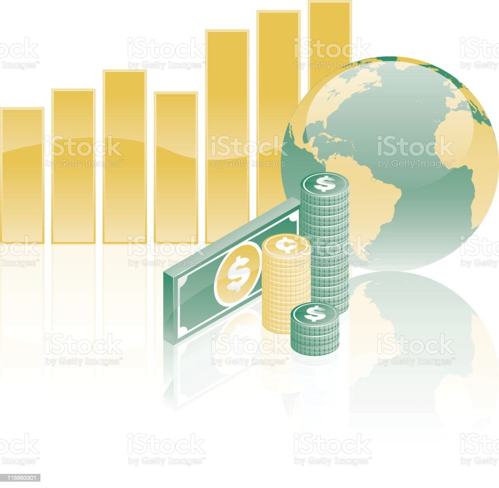 Global Equity Markets: Growth royalty-free stock vector art