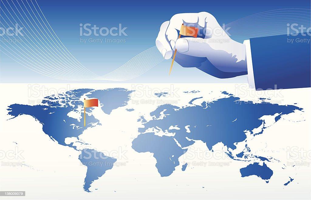 Global Expansion vector art illustration