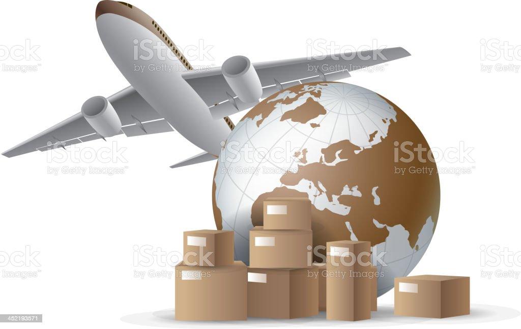 Global Express royalty-free stock vector art