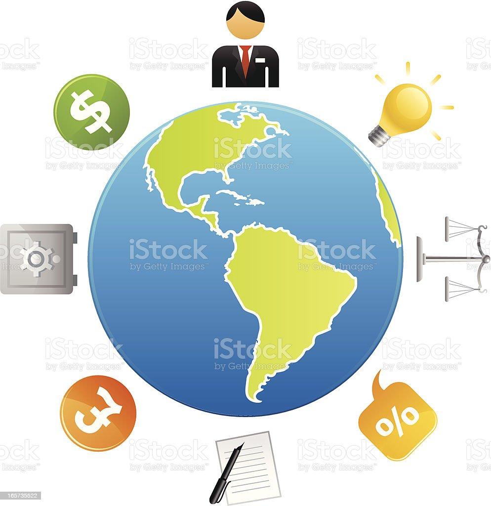 Global Finances royalty-free stock vector art