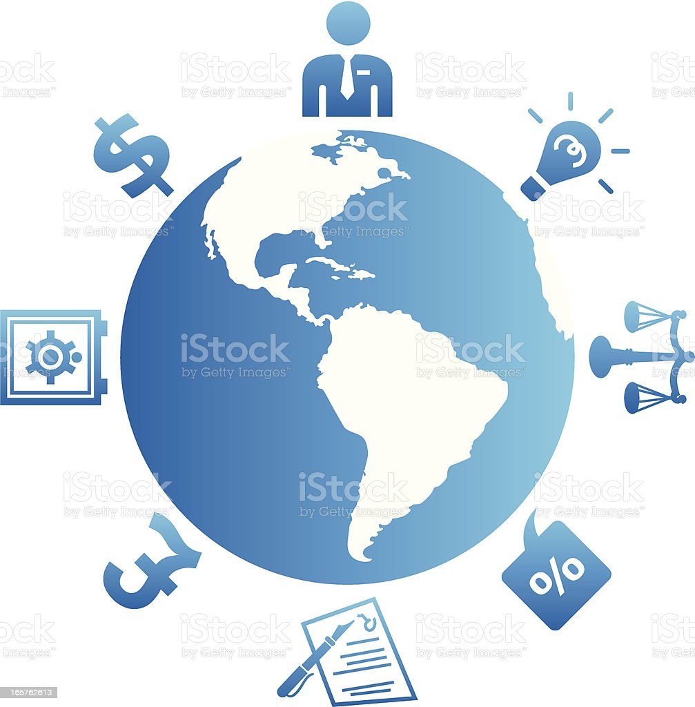 Global Finances vector art illustration