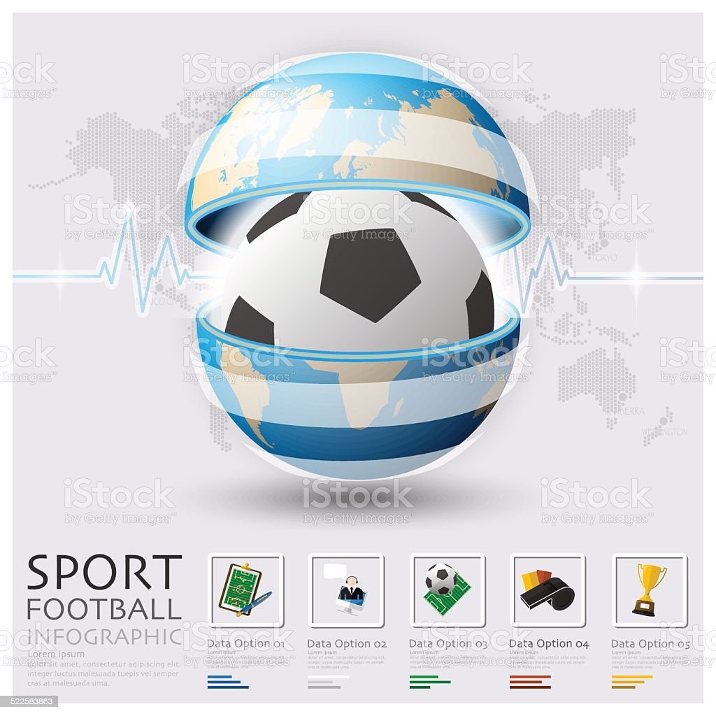 Global Football And Sport Infographic vector art illustration