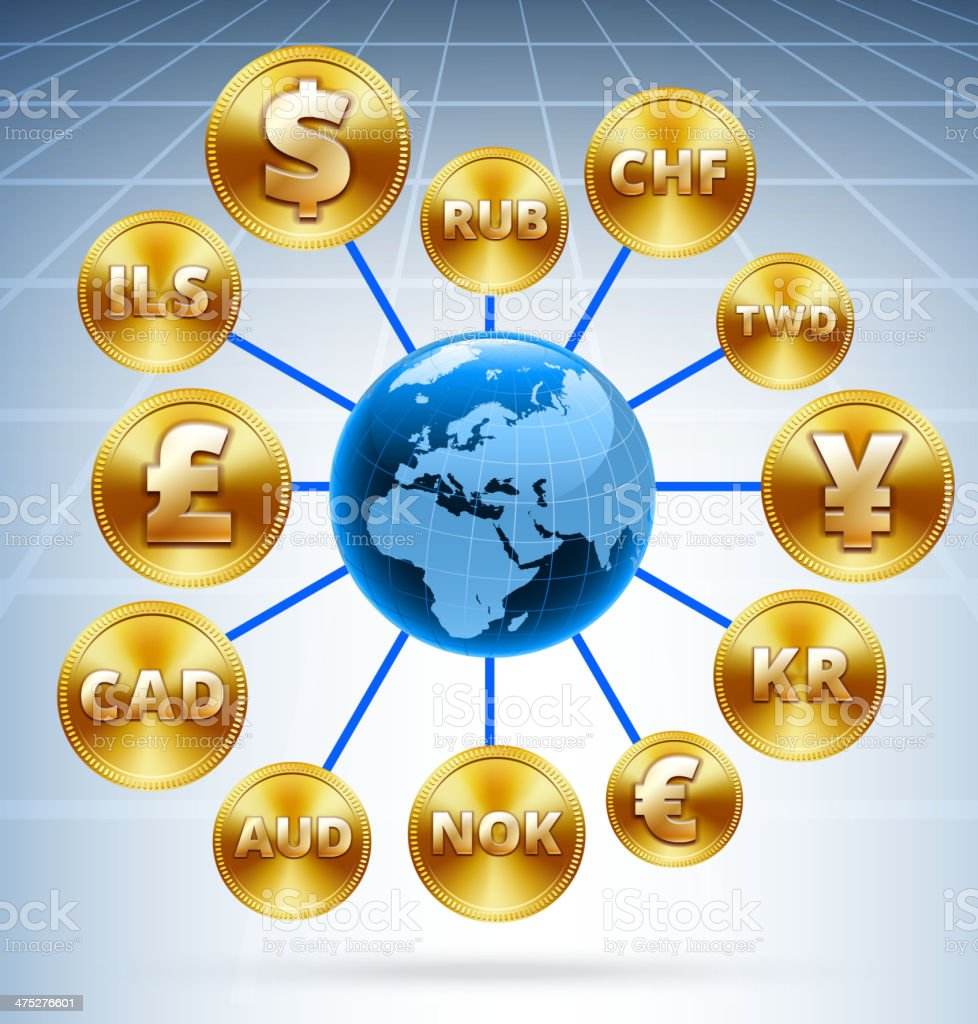 Global Golden Currency Web royalty-free stock vector art