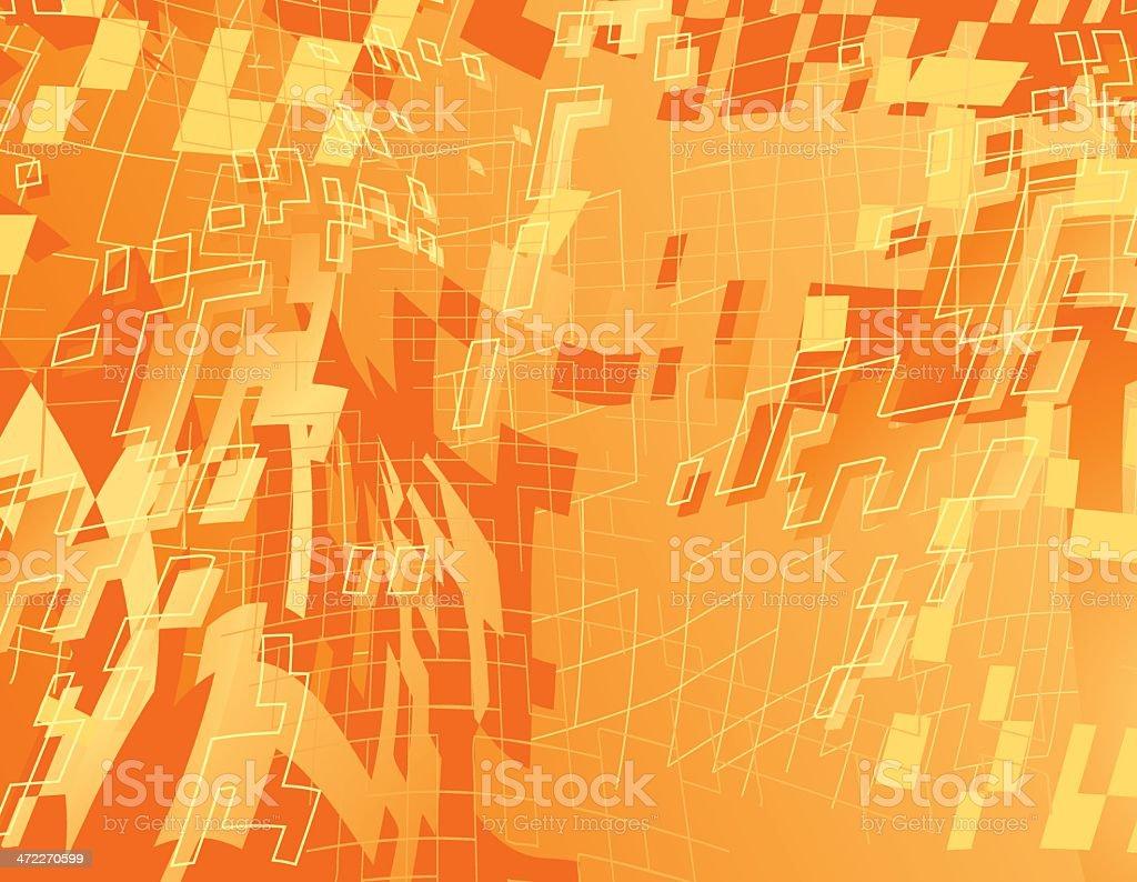 Global Hyper Mega Orange Tech World royalty-free stock vector art