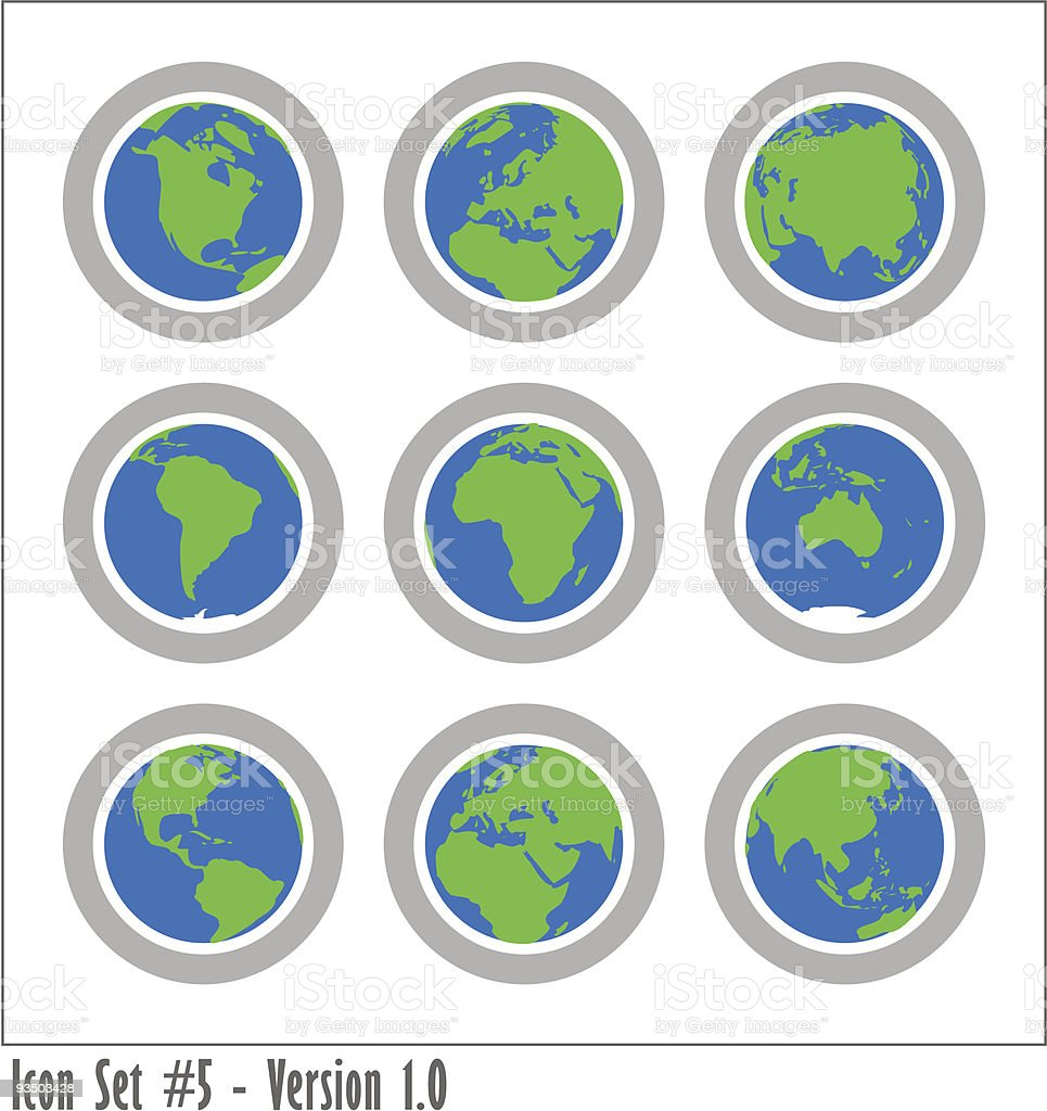Global Icon Set - Version 1 royalty-free stock vector art