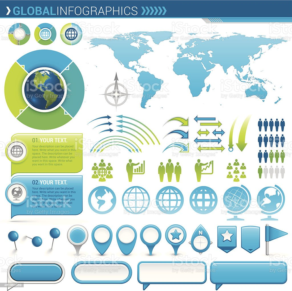 Global Infographic royalty-free stock vector art