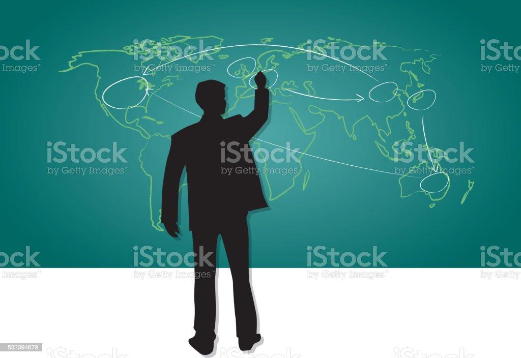 Global integration vector art illustration