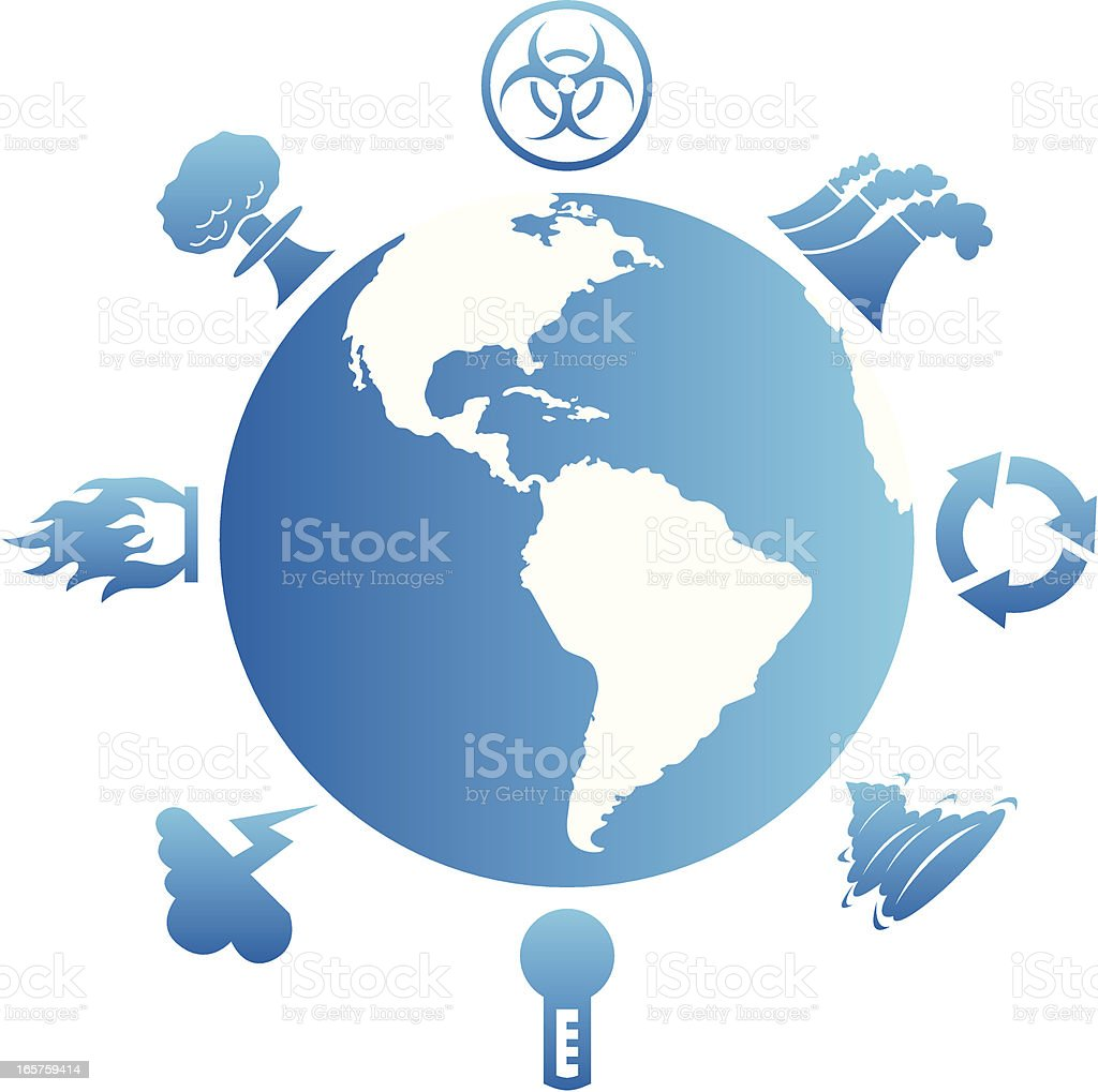Global Issues & Disasters vector art illustration