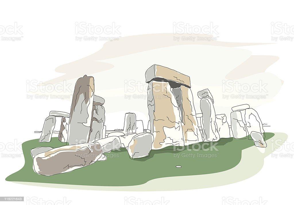 global landmarks - stonehenge royalty-free stock vector art