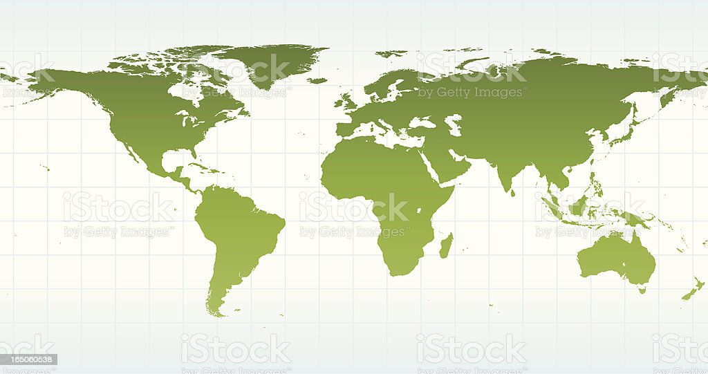 Global Map of Earth royalty-free stock vector art