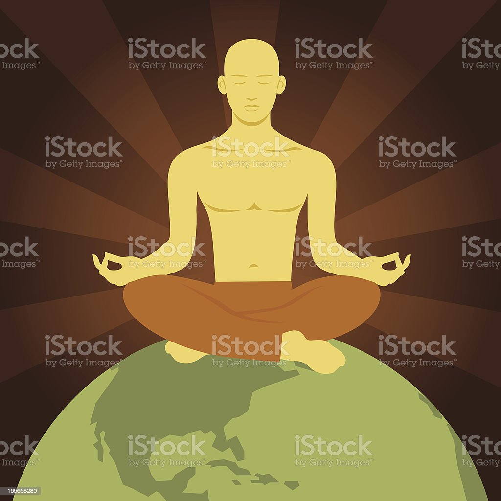 Global Meditation royalty-free stock vector art
