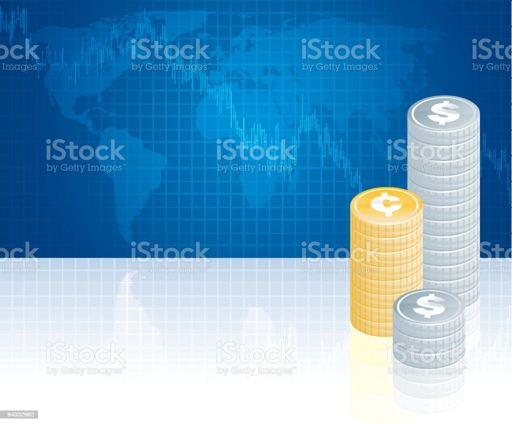 Global Money Markets (Downwards) royalty-free stock vector art
