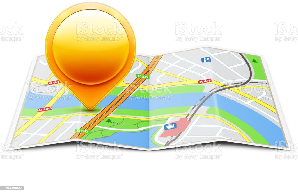 global navigation concept royalty-free stock vector art
