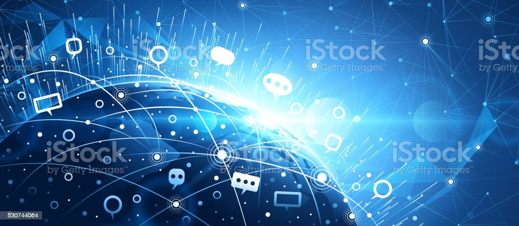 Global network background vector art illustration