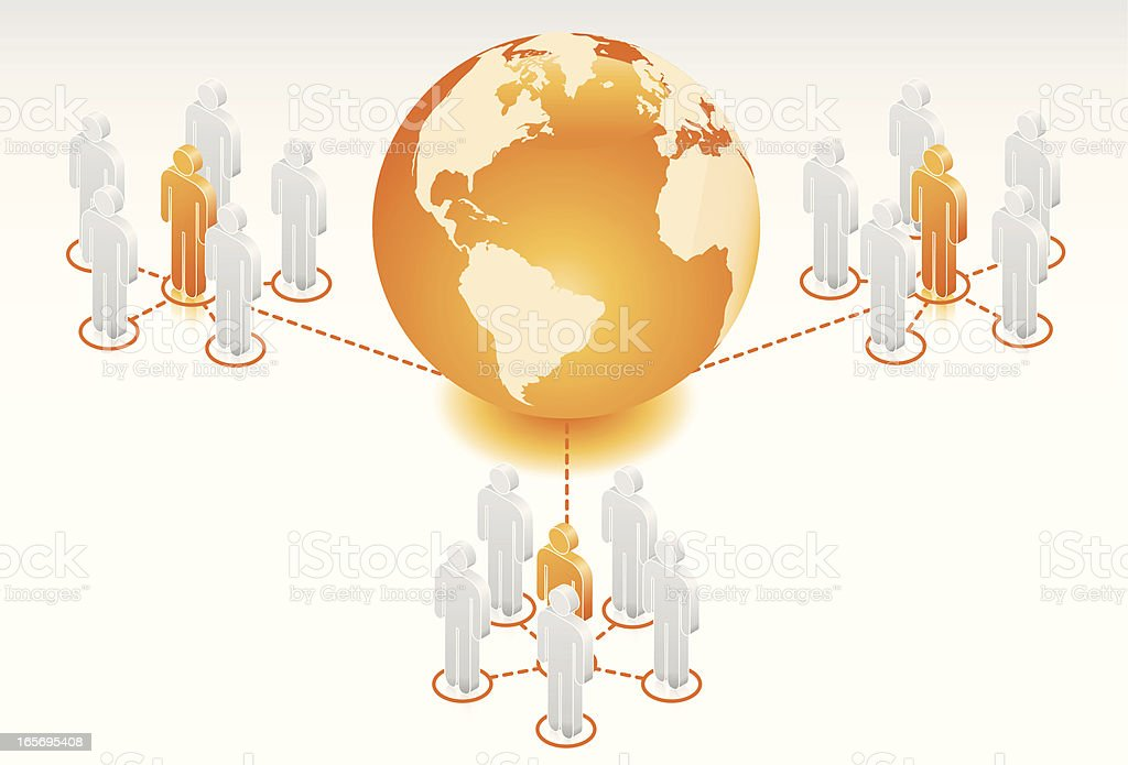 Global Network royalty-free stock vector art