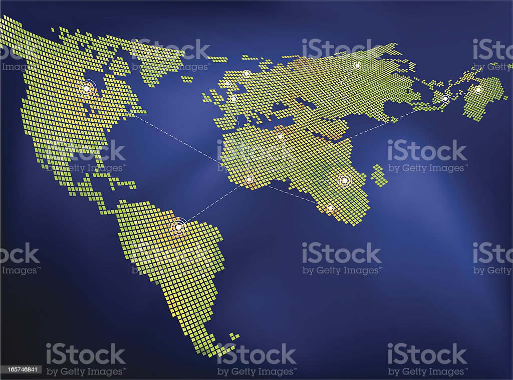 Global Networking royalty-free stock vector art