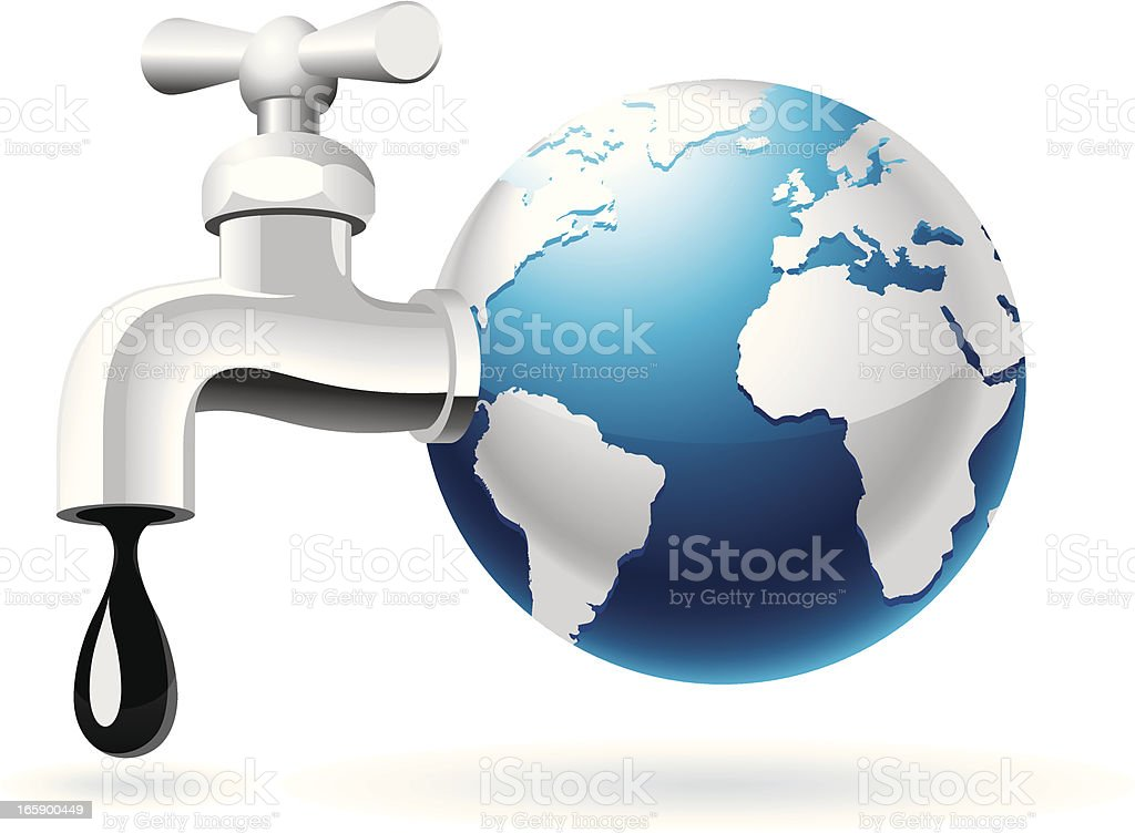 Global Oil Production vector art illustration