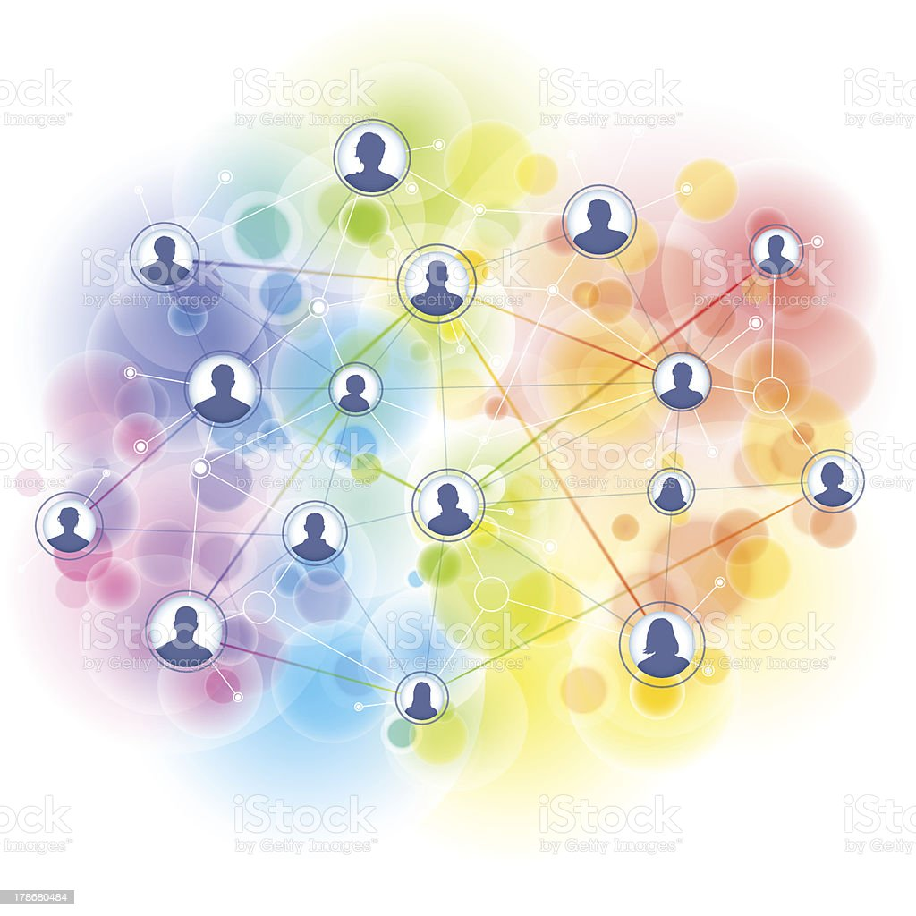 Global people networking background royalty-free stock vector art