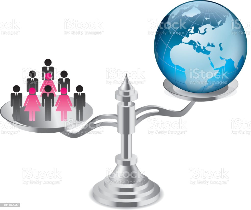 Global population issues royalty-free stock vector art