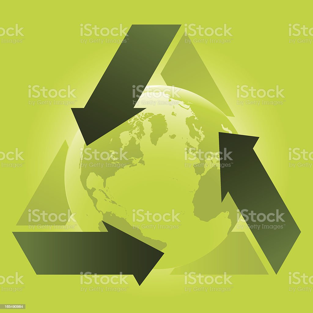 Global recycling royalty-free stock vector art