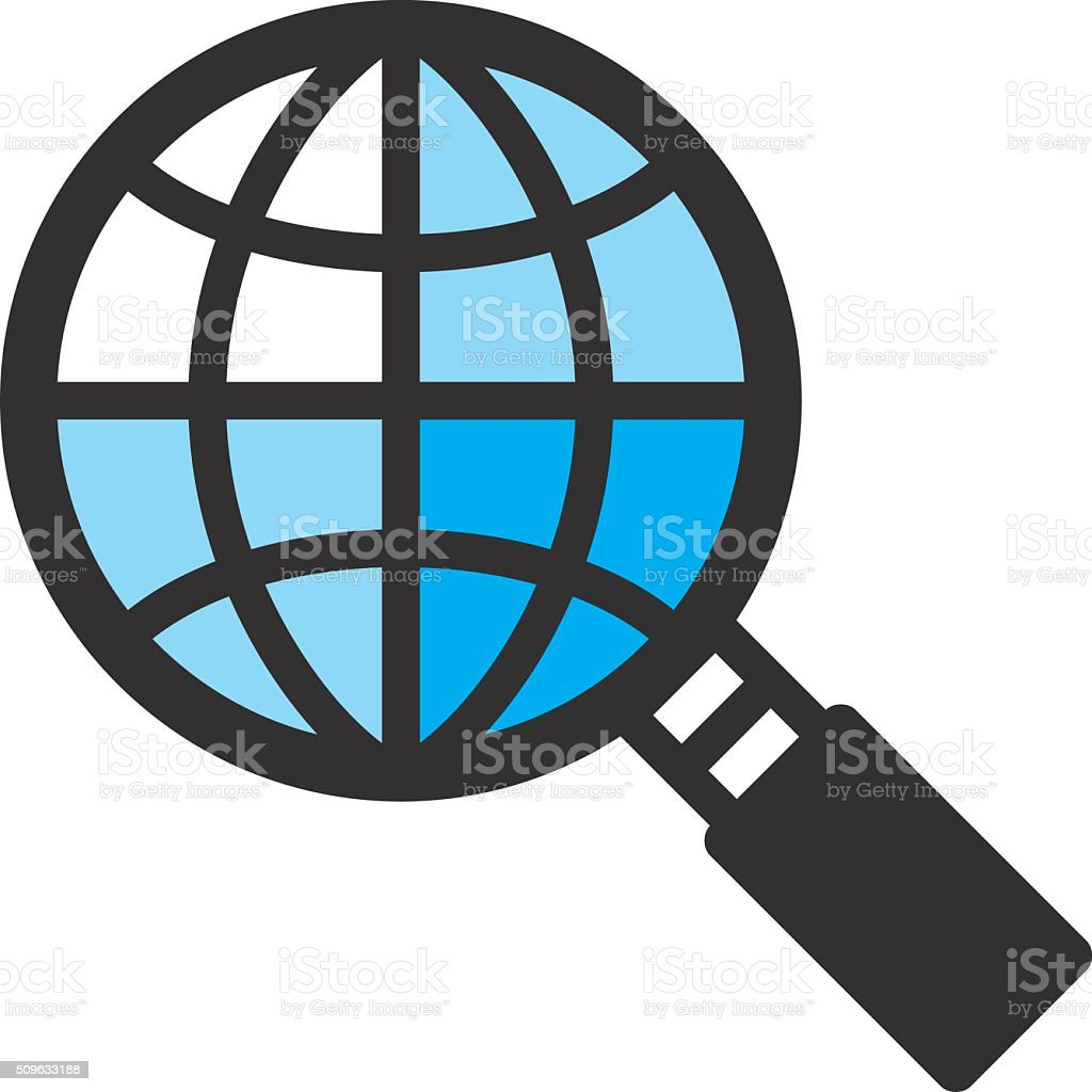 Global search concept vector art illustration