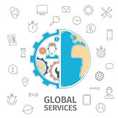 Global services concept
