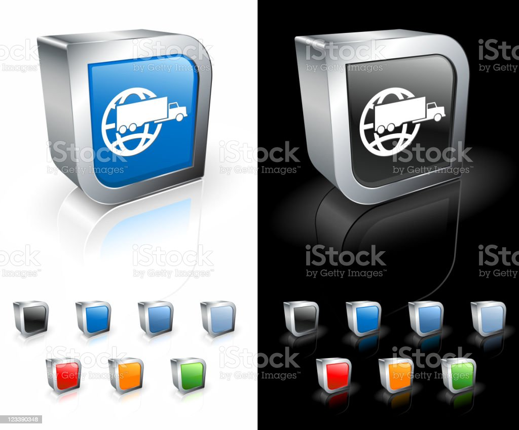 Global shipping icon in various colors royalty-free stock vector art
