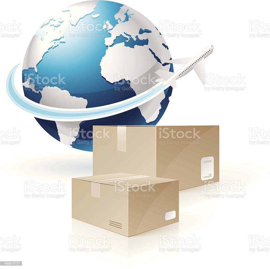 Global Shipping royalty-free stock vector art