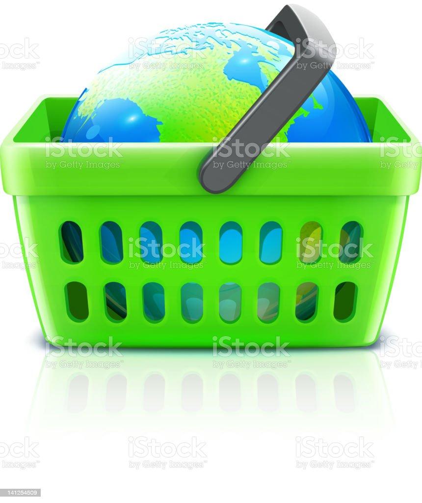global shopping concept royalty-free stock vector art