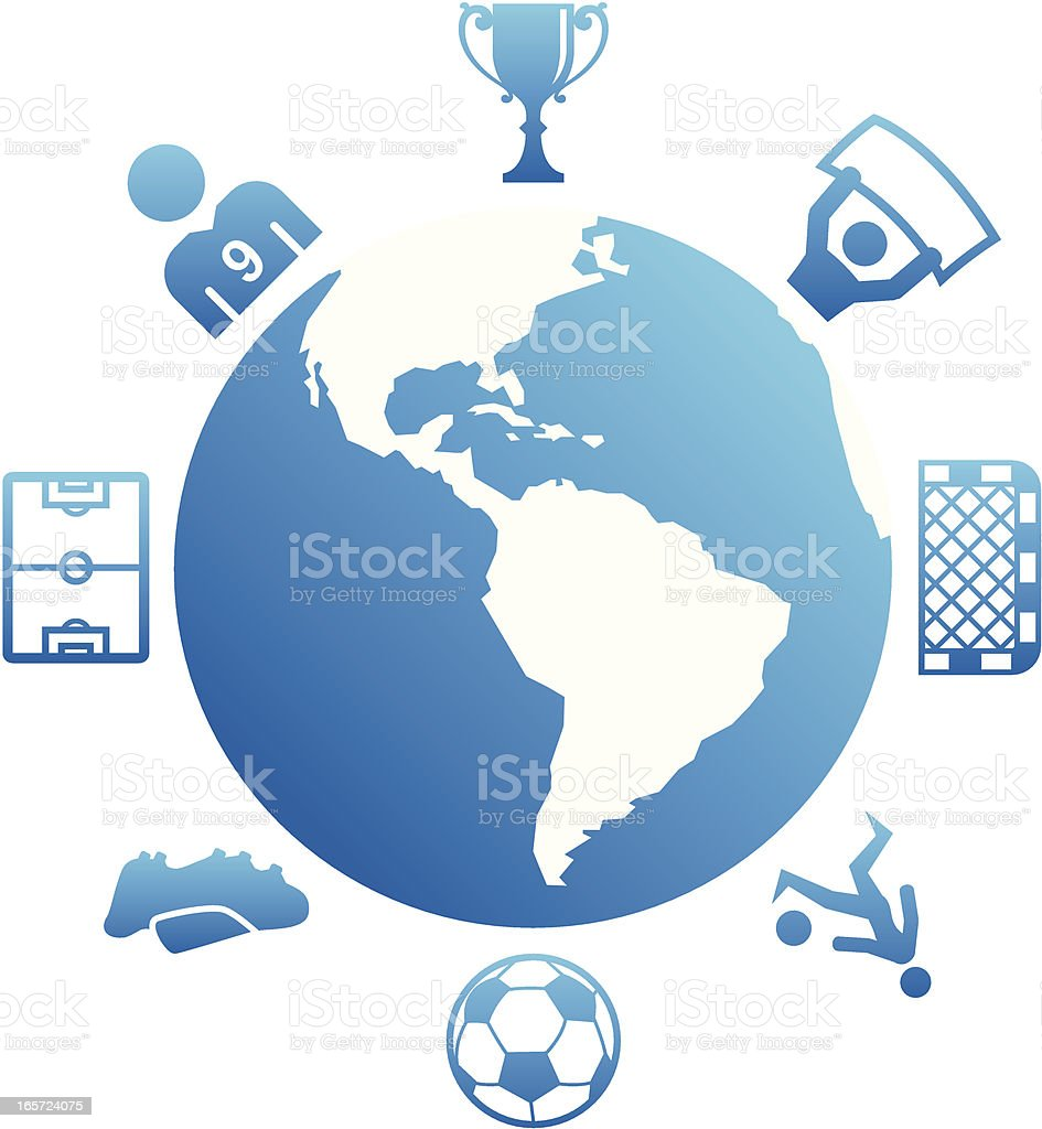 Global Soccer royalty-free stock vector art