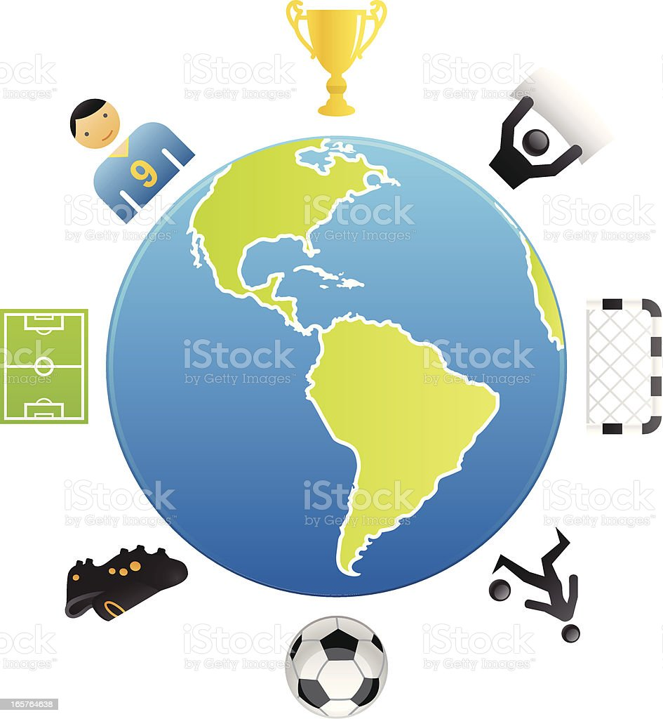 Global Soccer royalty-free stock vector art