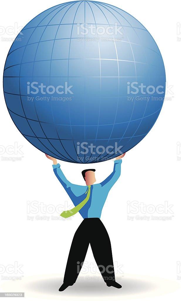 global strenght vector art illustration