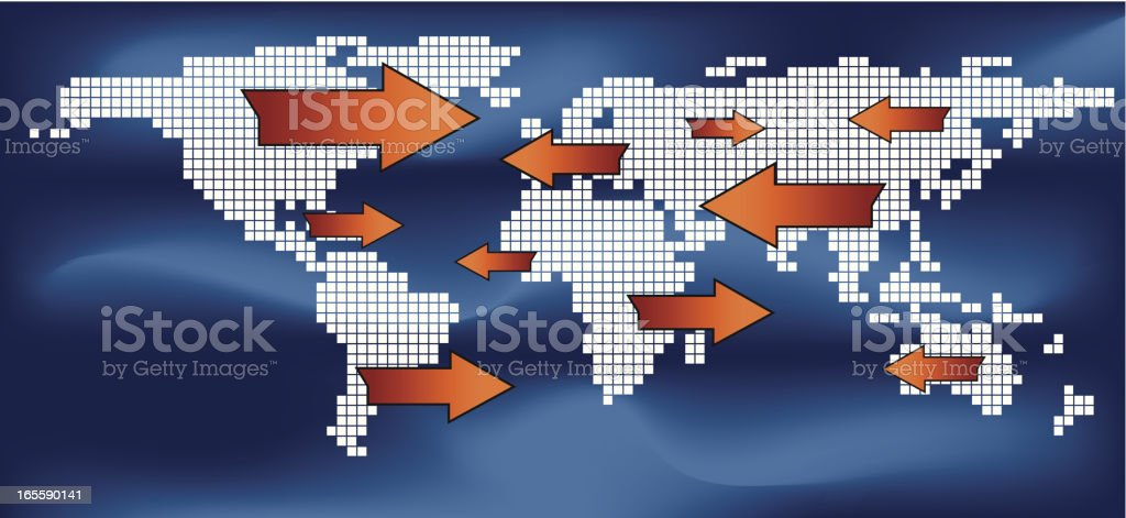 global trading concept royalty-free stock vector art