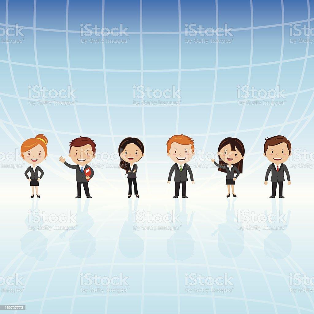 Global virtual team royalty-free stock vector art